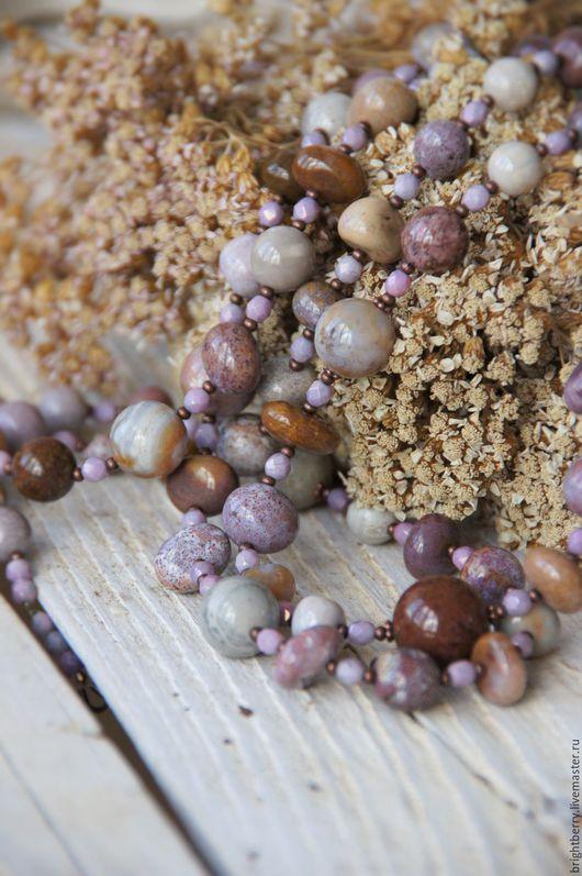 Колье, бусы ручной работы. Ярмарка Мастеров - ручная работа. Купить Колье из яшмы ГОРНЫЕ ЦВЕТЫ , бусы,  натуральный камень. Handmade.