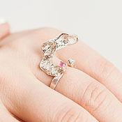 Украшения ручной работы. Ярмарка Мастеров - ручная работа Серебряное кольцо с розовым турмалином - 2. Handmade.