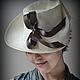 """Шляпы ручной работы. Ярмарка Мастеров - ручная работа. Купить Шляпа соломенная """"Богема"""". Handmade. Бежевый, светло бежевый, ретро"""
