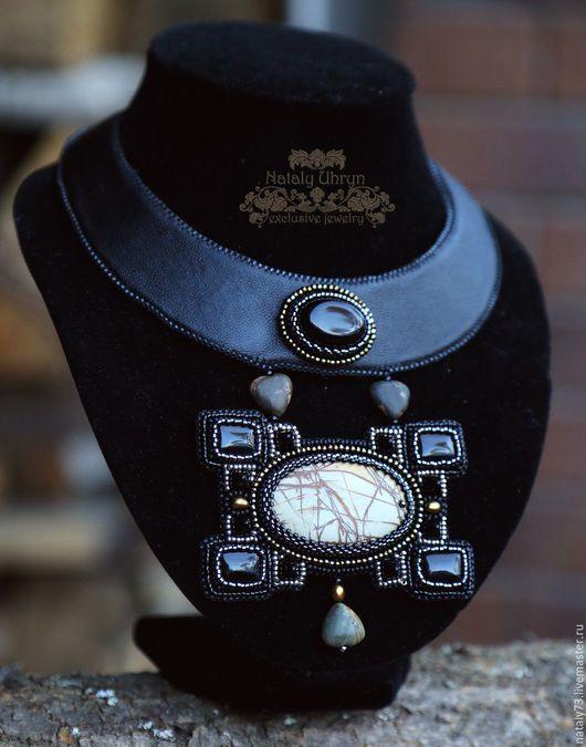 """Колье, бусы ручной работы. Ярмарка Мастеров - ручная работа. Купить Колье """"Style"""". Handmade. Черный, стильное украшение"""