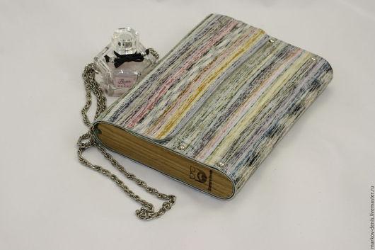Женские сумки ручной работы. Ярмарка Мастеров - ручная работа. Купить Радужный клатч. Handmade. Комбинированный, натуральное дерево