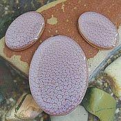 Материалы для творчества handmade. Livemaster - original item A set of three cabochons. Colour - Honey with mother of pearl. Shape - oval. Handmade.