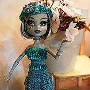 Куклы и игрушки ручной работы. Ярмарка Мастеров - ручная работа Вечерние голубые платья Monster High (МонстрХай). Handmade.