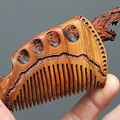 Подарки ручной работы. Ярмарка Мастеров - ручная работа Гребешок деревянный Волчица (ясень)ю9. Handmade.