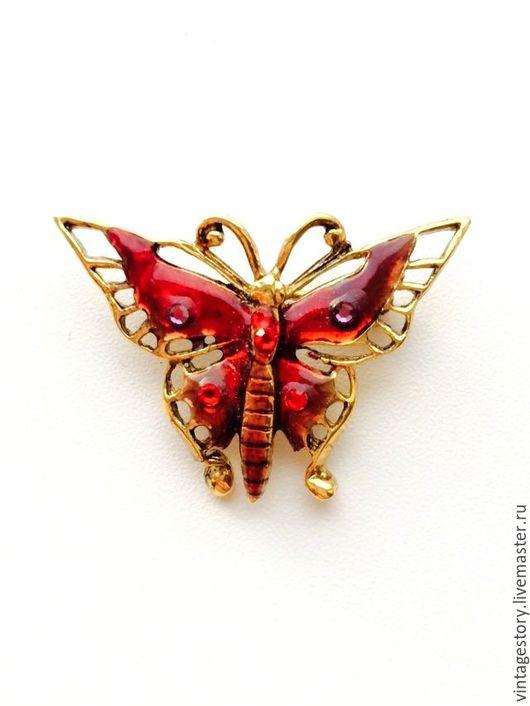 """Винтажные украшения. Ярмарка Мастеров - ручная работа. Купить W Винтажная брошь """"Прекрасная бабочка"""" эмали США. Handmade."""