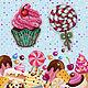 Cross stitch Sweets. Magnets. FavoriteStitch. My Livemaster. Фото №4