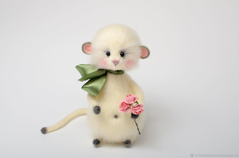 Вязаная игрушка Мышка Мишель, Игрушки животные, Ялта, Фото №1