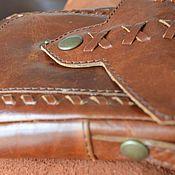 Сумки и аксессуары ручной работы. Ярмарка Мастеров - ручная работа кожаная сумочка для доументов. Handmade.