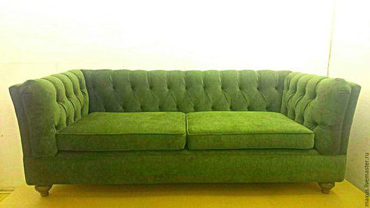 Мебель ручной работы. Ярмарка Мастеров - ручная работа. Купить Диван. Handmade. Каретная стяжка, диван, честер, диван на заказ
