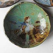 """Посуда ручной работы. Ярмарка Мастеров - ручная работа """"Море волнуется, три.."""" тарель керамическая. Handmade."""