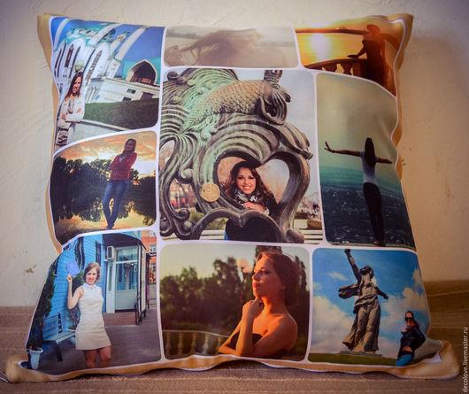 Персональные подарки ручной работы. Ярмарка Мастеров - ручная работа. Купить Подушка с фото на подушке подарок подруге на день рождения воронеж. Handmade.