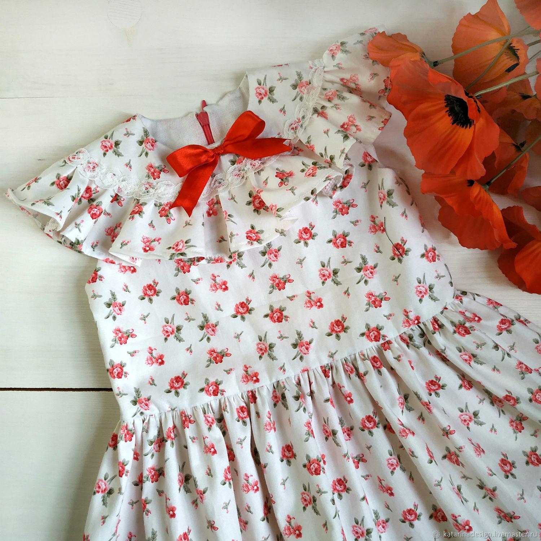 """Детское платье хлопок """"Нарядное"""""""