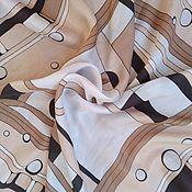 Винтаж handmade. Livemaster - original item Handkerchief with abstract pattern, silk,vintage Germany. Handmade.