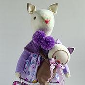 Куклы и игрушки ручной работы. Ярмарка Мастеров - ручная работа Elena. Текстильная кошечка.. Handmade.
