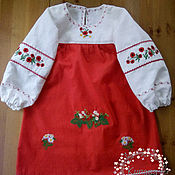 Русский стиль handmade. Livemaster - original item Dress Russian children
