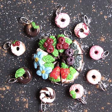 Куклы и игрушки ручной работы. Ярмарка Мастеров - ручная работа Сладости для радости_тортик и пончики. Handmade.
