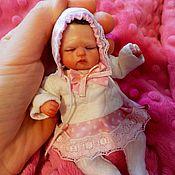Куклы Reborn ручной работы. Ярмарка Мастеров - ручная работа Мини реборн из полимерной глины Алиса. Handmade.