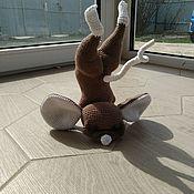 Мягкие игрушки ручной работы. Ярмарка Мастеров - ручная работа Мышка, Вязаная игрушка. Handmade.