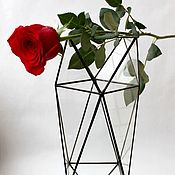 Для дома и интерьера handmade. Livemaster - original item Stylish geometric vase. Flower vase. High vase. Loft. Handmade.