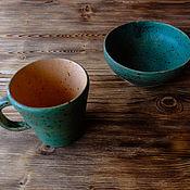 """Посуда ручной работы. Ярмарка Мастеров - ручная работа Набор посуды """" Весеннее утро """". Handmade."""