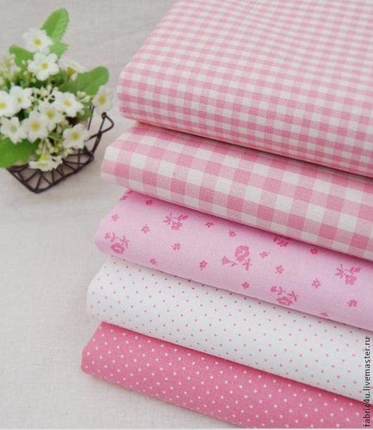 Шитье ручной работы. Ярмарка Мастеров - ручная работа. Купить Хлопковые ткани в розовых тонах. Корея. Handmade. Розовый