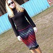 Одежда ручной работы. Ярмарка Мастеров - ручная работа юбка -радуга. Handmade.
