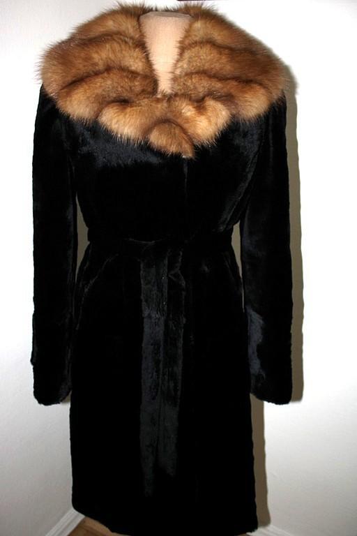 Sheared river beaver and pine marten fur coat, Fur Coats, Moscow,  Фото №1