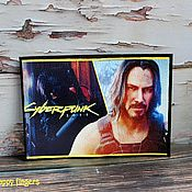 Канцелярские товары handmade. Livemaster - original item Leather passport cover Keanu Reeves Cyberpunk Cyberpunk. Handmade.