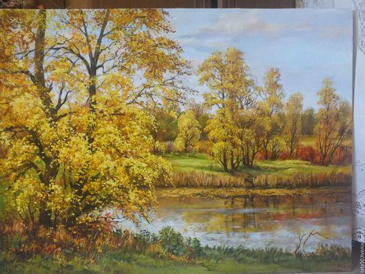 """Пейзаж ручной работы. Ярмарка Мастеров - ручная работа. Купить """" Вот и осень пришла"""". Handmade. Желтый, желтые листья"""