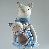 Куклы и игрушки ручной работы. Ярмарка Мастеров - ручная работа Nicole. Текстильная кошечка.. Handmade.
