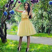 Одежда ручной работы. Ярмарка Мастеров - ручная работа Солнечная юбка из фатина. Handmade.