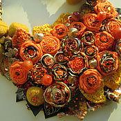 """Украшения ручной работы. Ярмарка Мастеров - ручная работа Колье """"Золотая осень"""" с сердоликом. Handmade."""