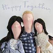"""Куклы и игрушки ручной работы. Ярмарка Мастеров - ручная работа Тильда семья """"Мы вместе"""". Handmade."""