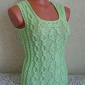 Одежда handmade. Livemaster - original item lightweight knitted top vest t-shirt