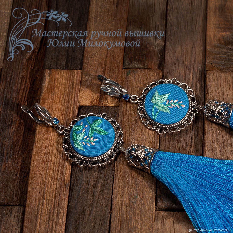 Embroidered tassel earrings Spring in Kyoto, Tassel earrings, Moscow,  Фото №1