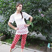 """Одежда ручной работы. Ярмарка Мастеров - ручная работа Маечка """"С бабочками"""". Handmade."""