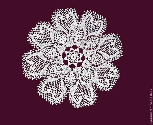 Текстиль, ковры ручной работы. Ярмарка Мастеров - ручная работа. Купить Салфетка №24. Handmade. Белый, круглая салфетка