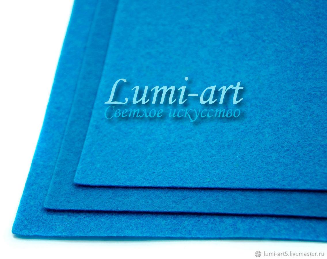 Основа для вышивки - Синий жесткий фетр 1мм лист 30 х 20 см, Материалы, Краснодар, Фото №1