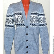Одежда handmade. Livemaster - original item Jackets: knitted jacket with buttons. Handmade.