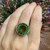 Винтаж handmade. Livemaster - original item Ring with a color-changing stone Spinel, Zirconium, silver 925. Handmade.