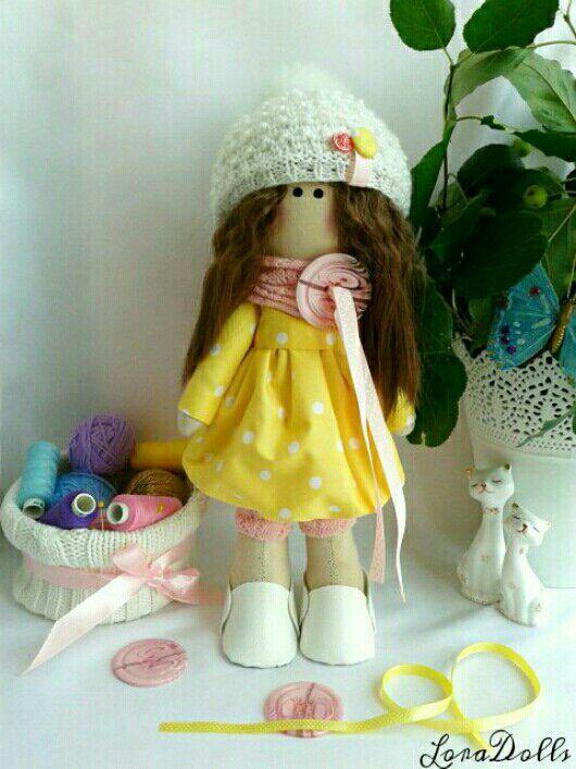 """Куклы тыквоголовки ручной работы. Ярмарка Мастеров - ручная работа. Купить Интерьерная кукла """"Пуговка"""". Handmade. Интерьерная кукла"""