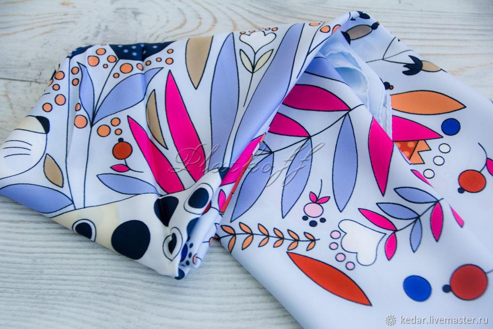 Silk Art Vanensis satin neckerchief 'Funny leopard', Wraps, Moscow,  Фото №1