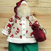 Куклы и игрушки ручной работы. Ярмарка Мастеров - ручная работа Санта-Клаус (интерьерная кукла в стиле Тильда). Handmade.