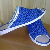 Footwear handmade. Livemaster - original item Slippers. . Knitted shoes. Handmade.