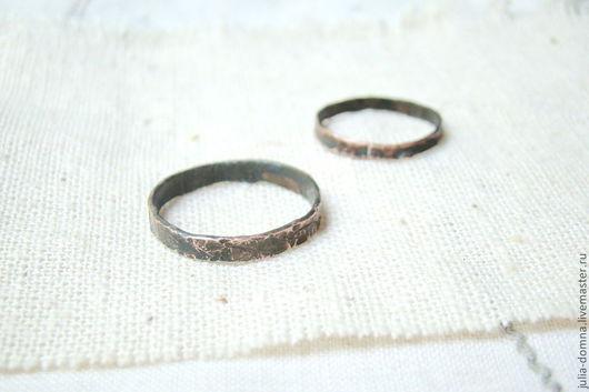 Кольца ручной работы. Ярмарка Мастеров - ручная работа. Купить кольца для медной свадьбы. Handmade. Медные украшения, кольца