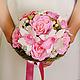 """Свадебные цветы ручной работы. Ярмарка Мастеров - ручная работа. Купить Букет невесты """"Розовая нежность"""". Handmade. Розовый, фоамиран"""