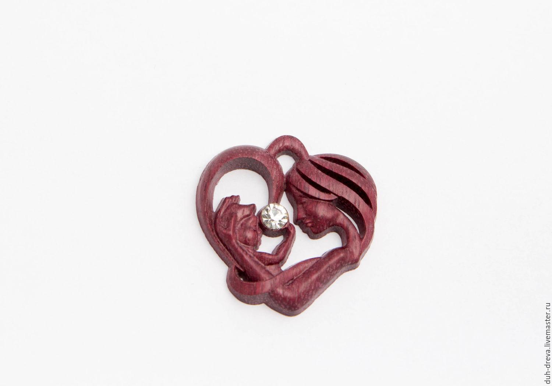 Wooden heart pendant, Pendants, Vladimir,  Фото №1