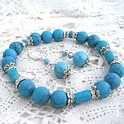Украшения handmade. Livemaster - original item Turquoise set of Consuelo. Handmade.