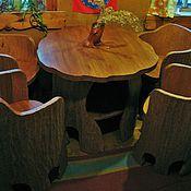 Для дома и интерьера ручной работы. Ярмарка Мастеров - ручная работа комплект, стол и 4 кресла. Handmade.