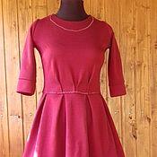Одежда ручной работы. Ярмарка Мастеров - ручная работа Платье из шерсти Спелая вишня. Handmade.